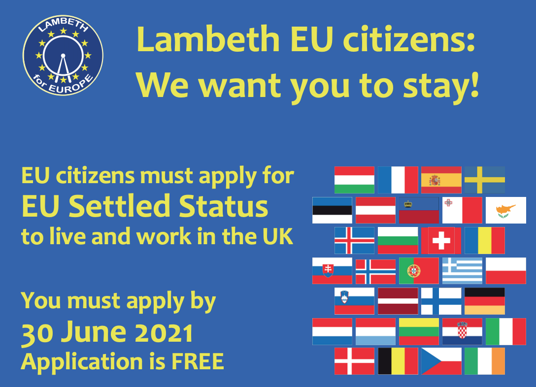 Lambeth EU citizens we want you to stay