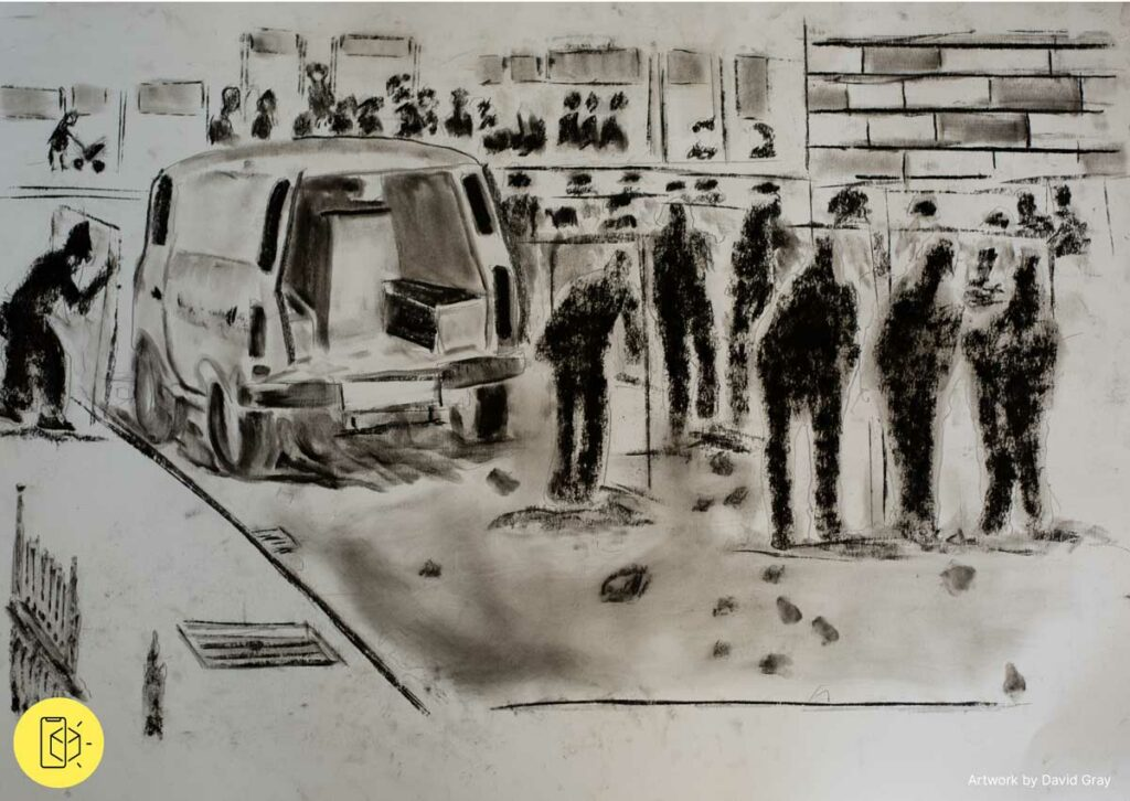 Art work from Voices of Our People by David Gray
