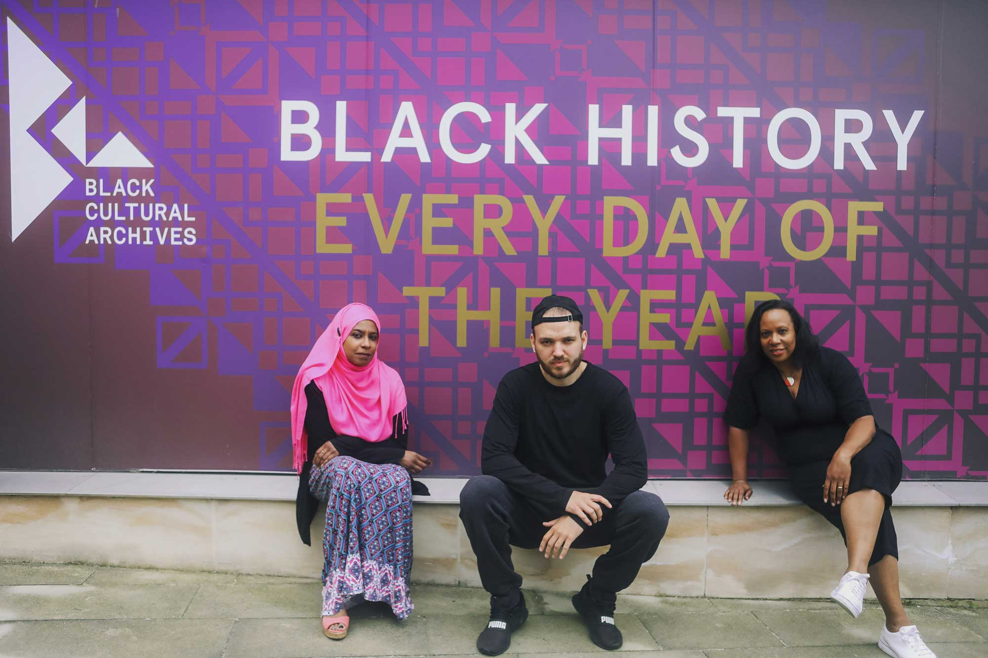 Founders of the Poetic Relief Fund outside Black Cultural Archives Brixton